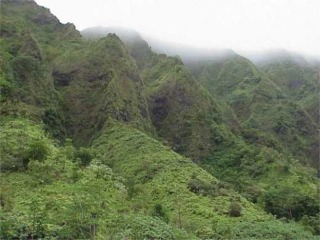 Misty Ridges of Haiku Valley, Kaneohe, Oahu, Hawaii picture taken by ATAH.NET photographer for www.digital-picture-gallery.com